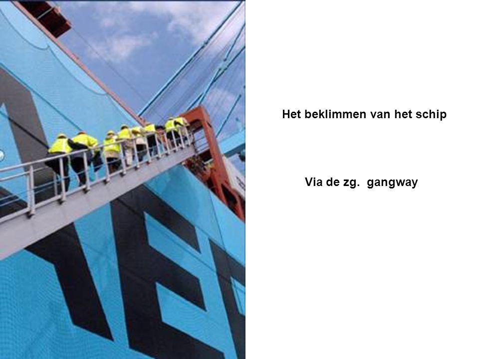 Het beklimmen van het schip