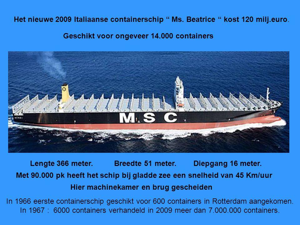 Het nieuwe 2009 Italiaanse containerschip Ms
