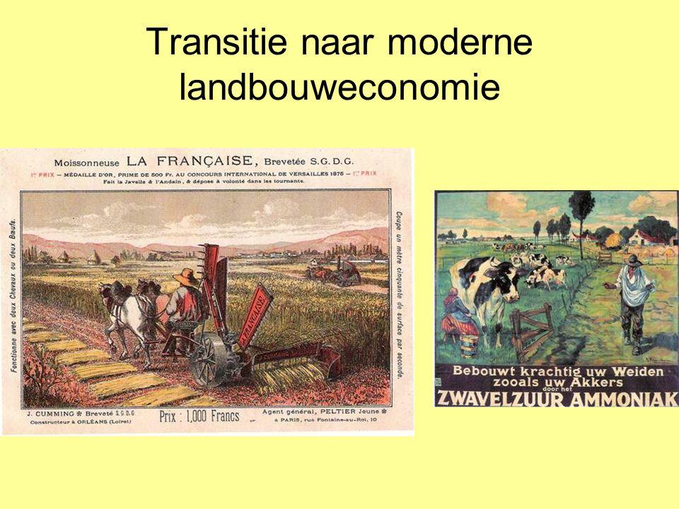 Transitie naar moderne landbouweconomie