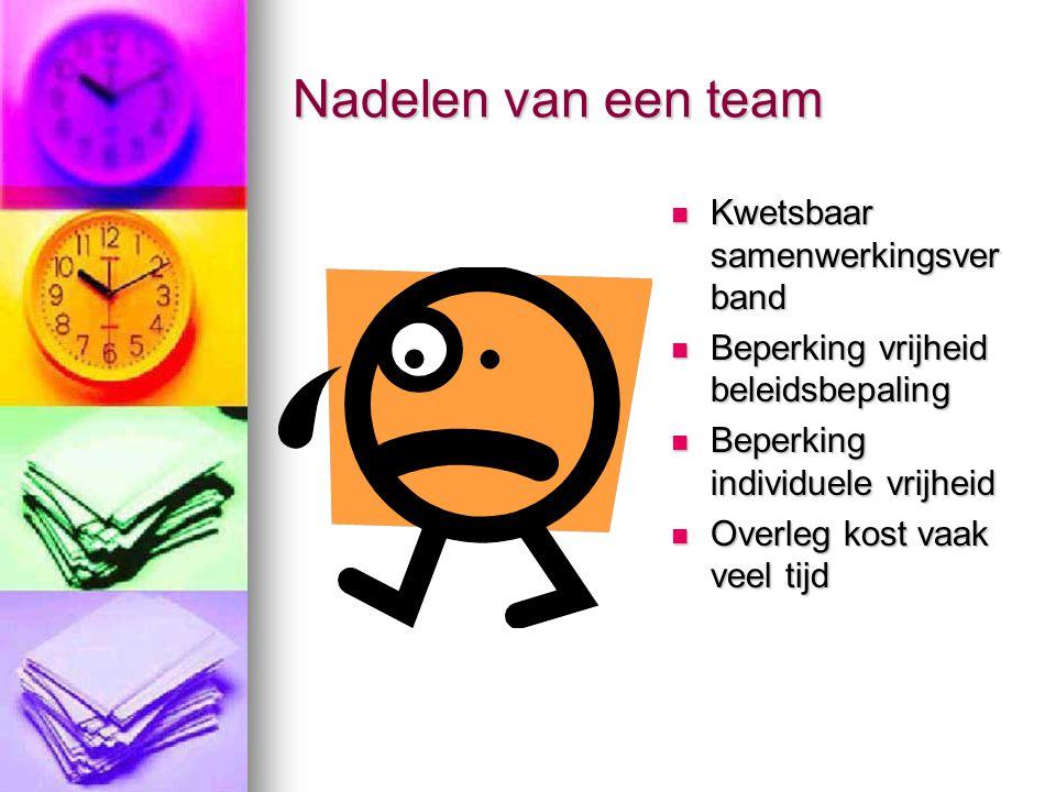 Nadelen van een team Kwetsbaar samenwerkingsverband