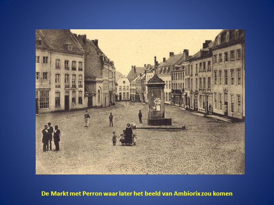 De Markt met Perron waar later het beeld van Ambiorix zou komen
