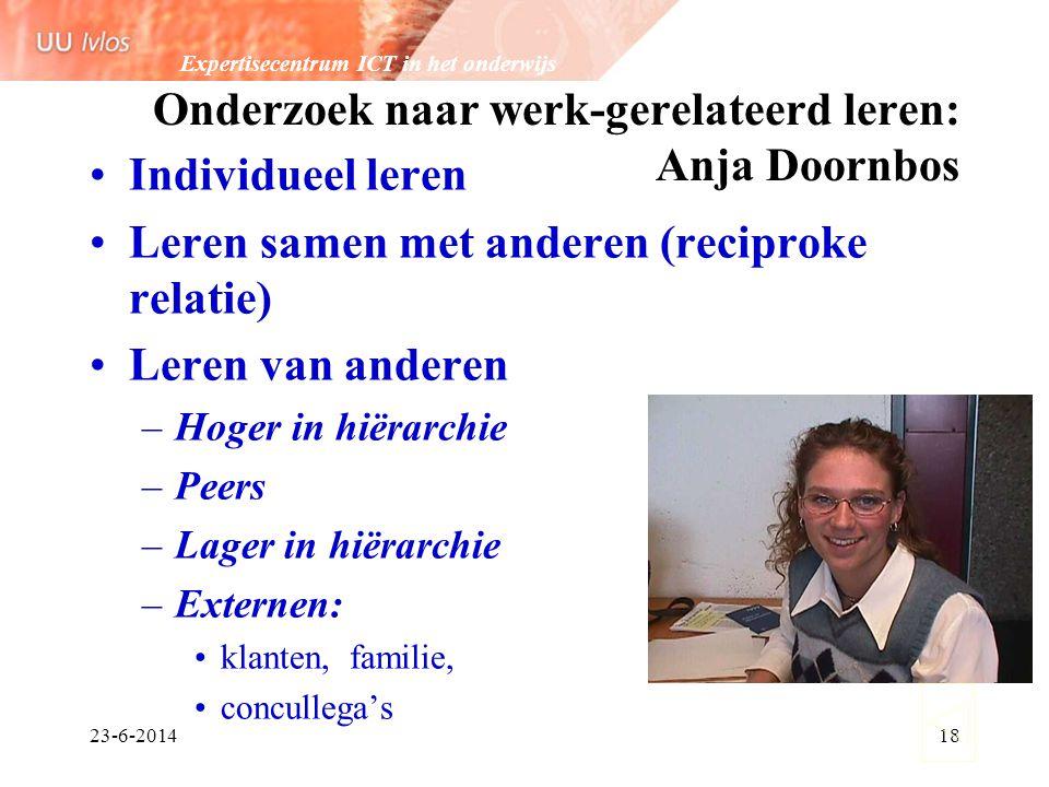 Onderzoek naar werk-gerelateerd leren: Anja Doornbos