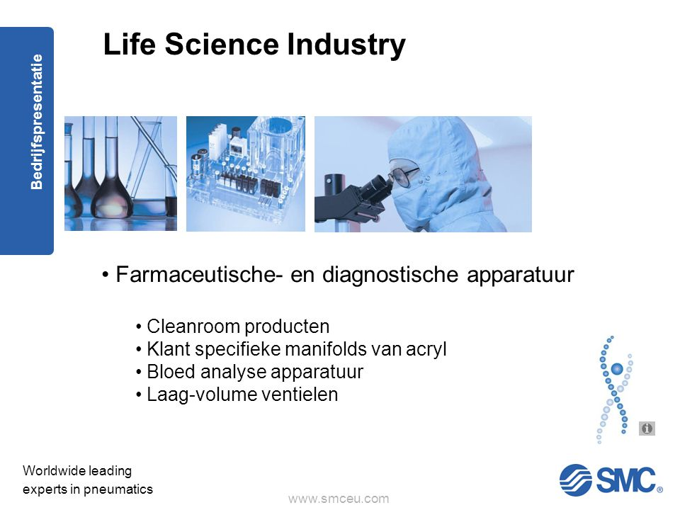 Life Science Industry Farmaceutische- en diagnostische apparatuur