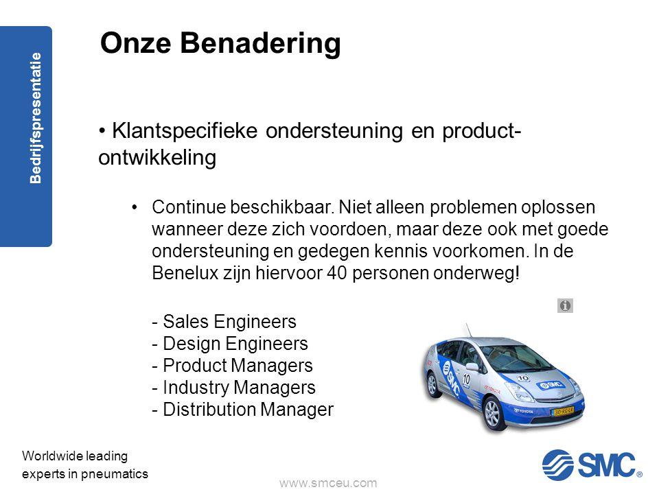Onze Benadering Klantspecifieke ondersteuning en product- ontwikkeling