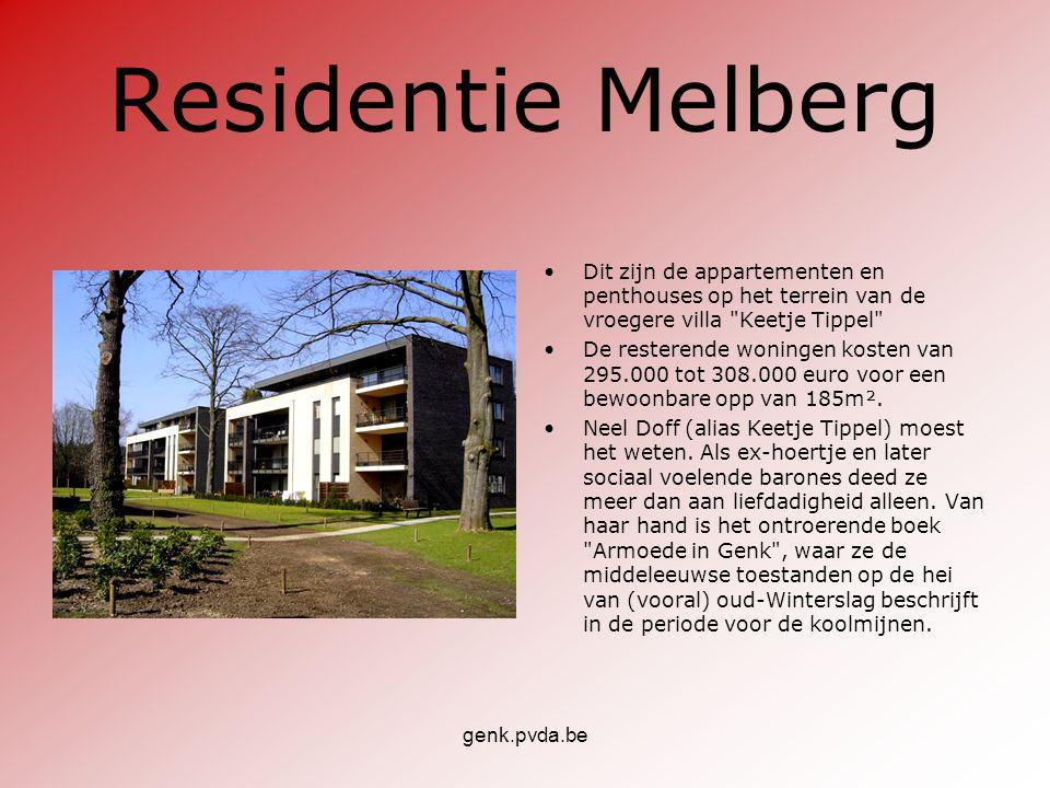Residentie Melberg Dit zijn de appartementen en penthouses op het terrein van de vroegere villa Keetje Tippel