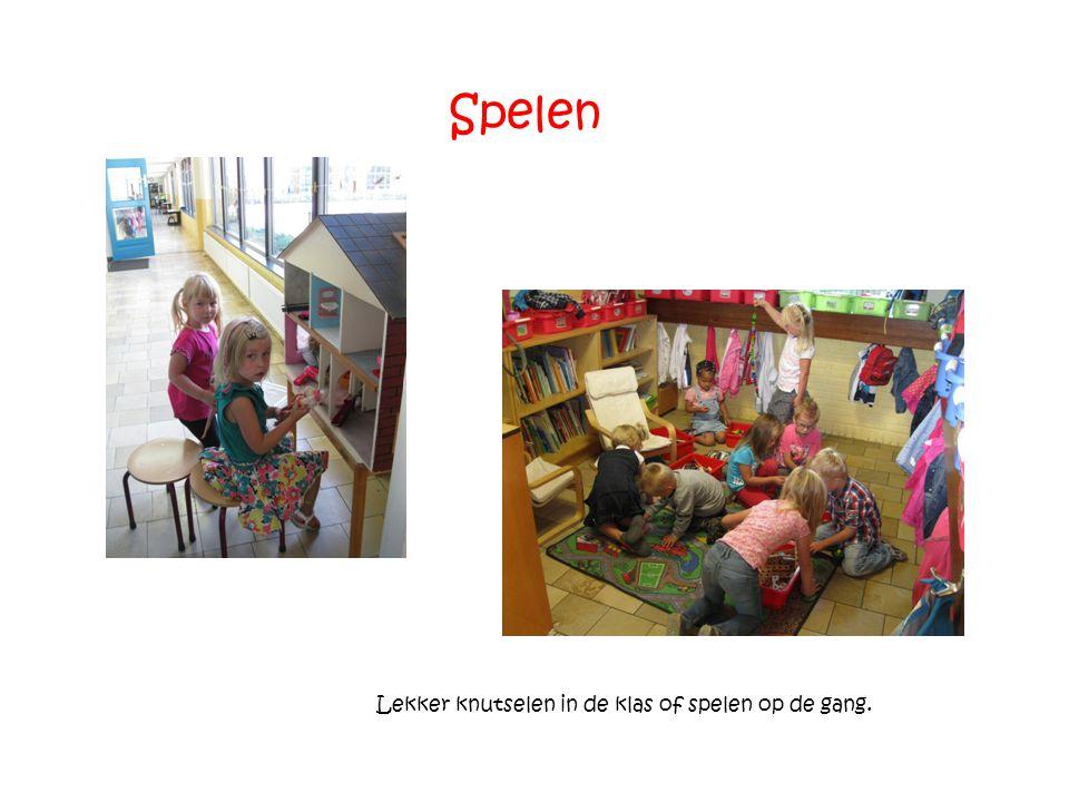 Spelen Lekker knutselen in de klas of spelen op de gang.