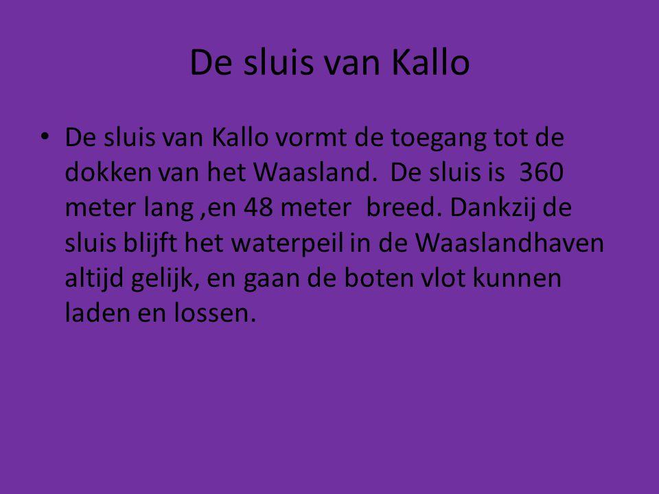 De sluis van Kallo