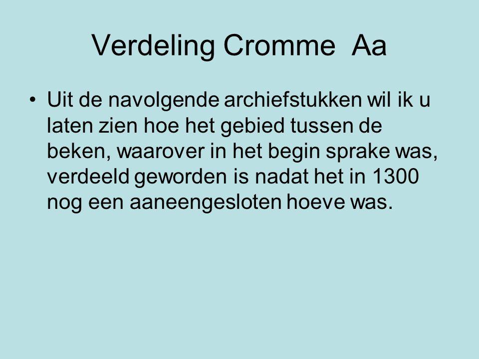 Verdeling Cromme Aa
