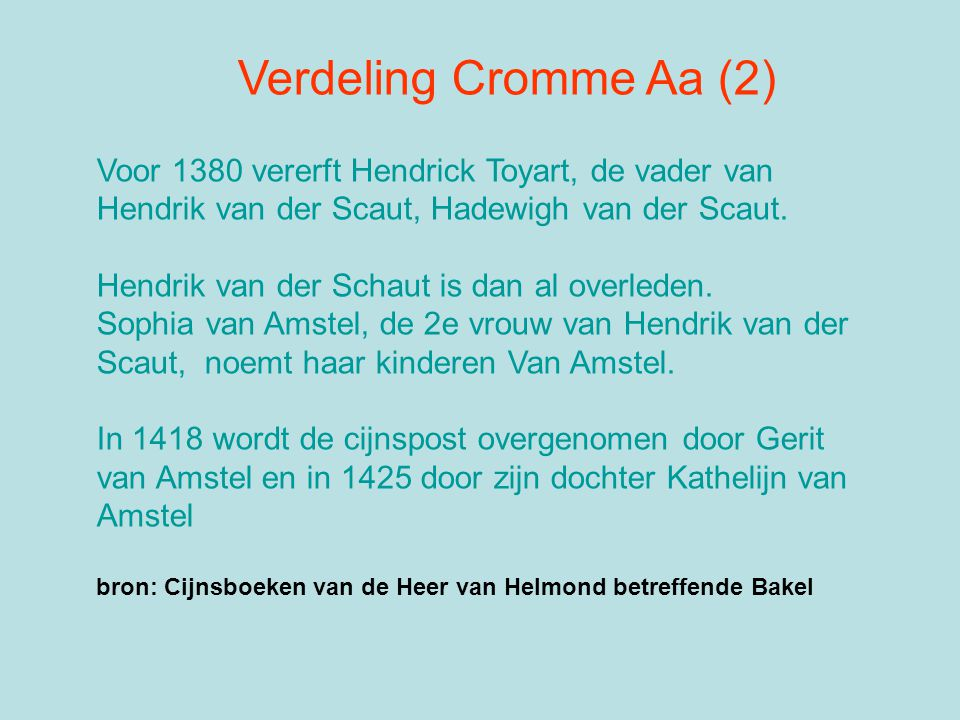Hendrik van der Schaut is dan al overleden.