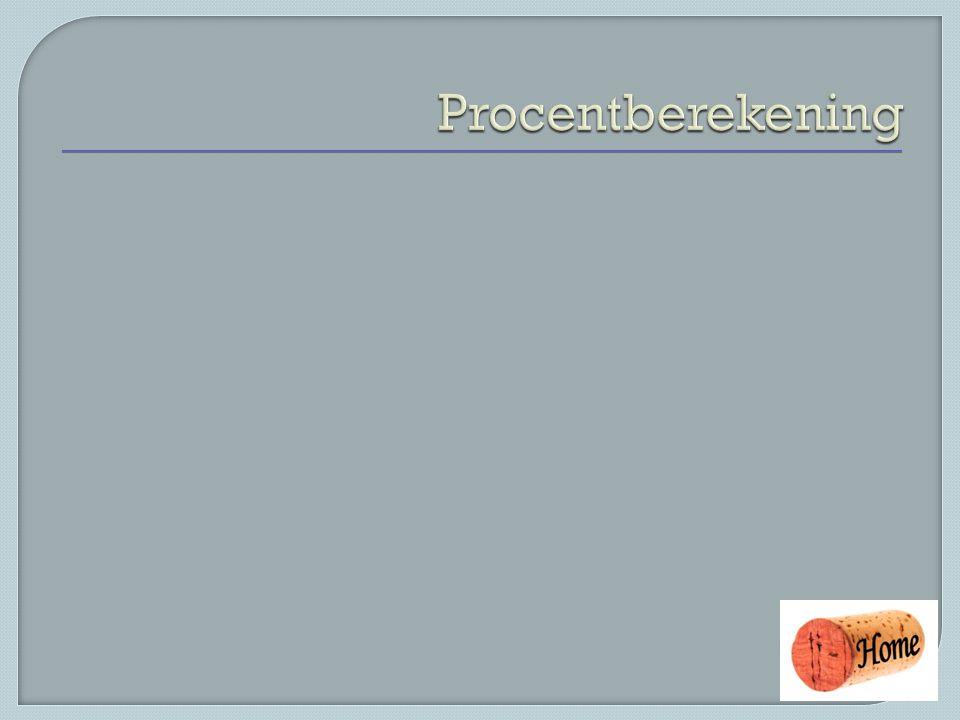 Procentberekening