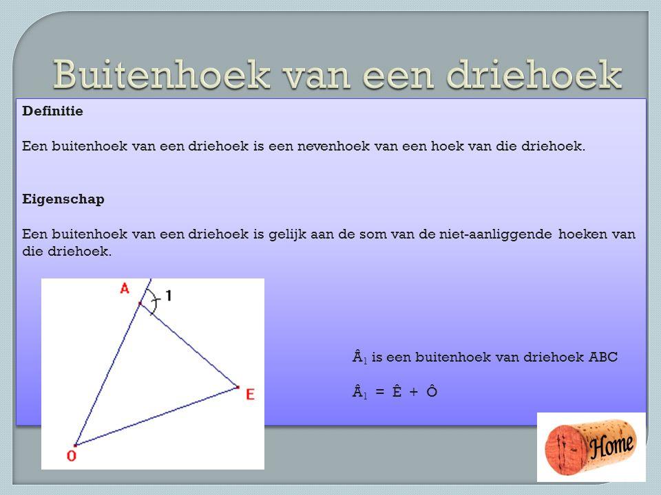 Buitenhoek van een driehoek