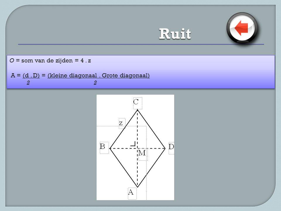 Ruit O = som van de zijden = 4 . z
