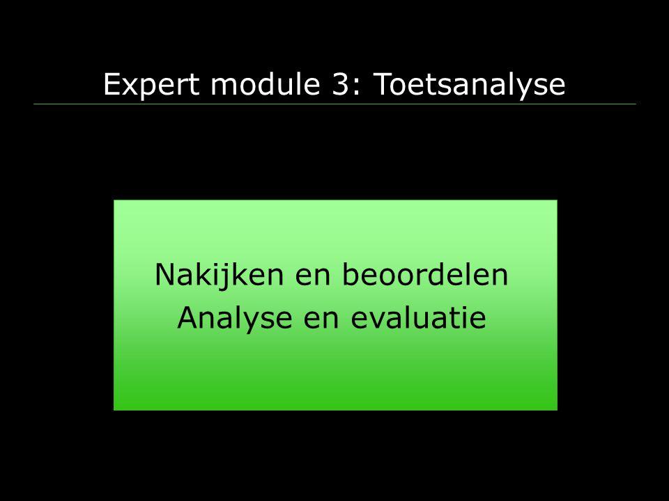 Expert module 3: Toetsanalyse
