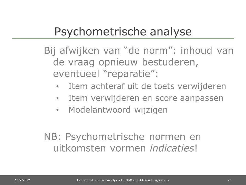 Psychometrische analyse