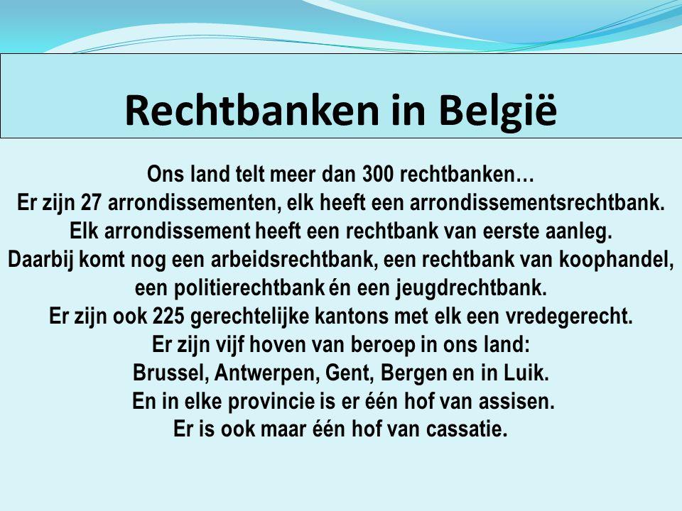 Rechtbanken in België Rechtbanken in België