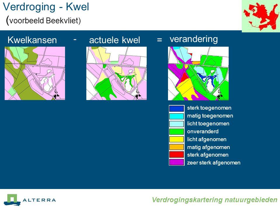Verdroging - Kwel (voorbeeld Beekvliet)