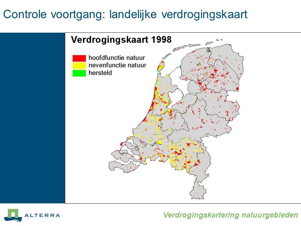 Controle voortgang: landelijke verdrogingskaart