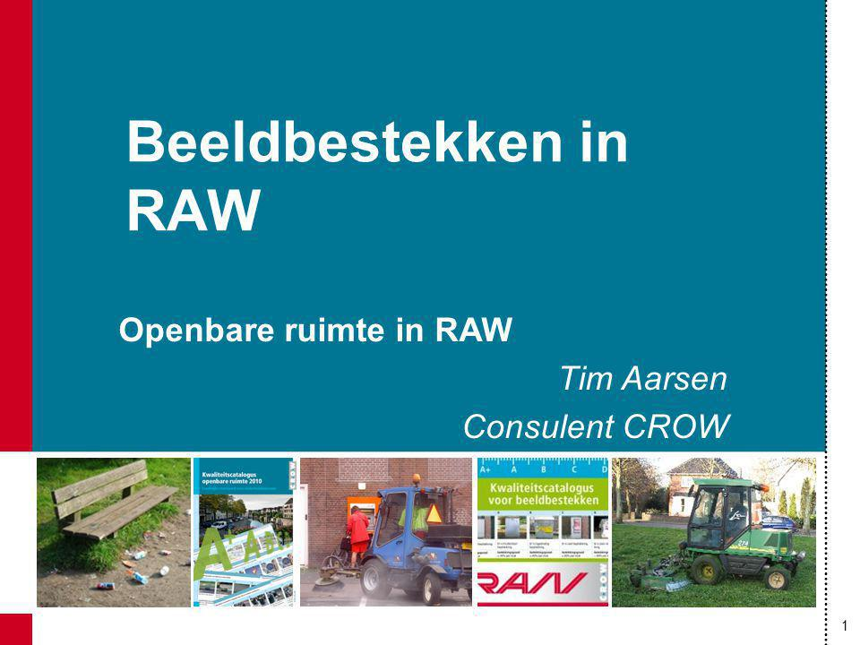 Beeldbestekken in RAW Openbare ruimte in RAW Tim Aarsen Consulent CROW