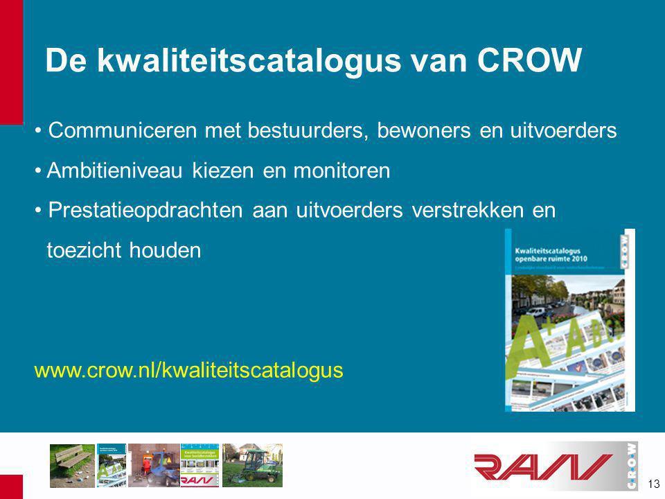 De kwaliteitscatalogus van CROW