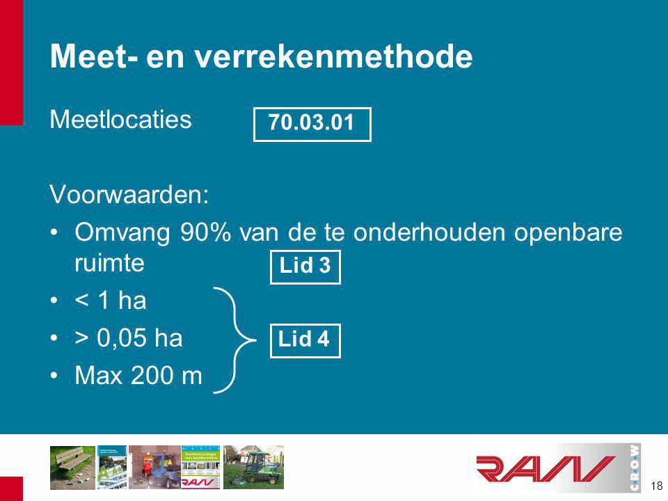 Meet- en verrekenmethode
