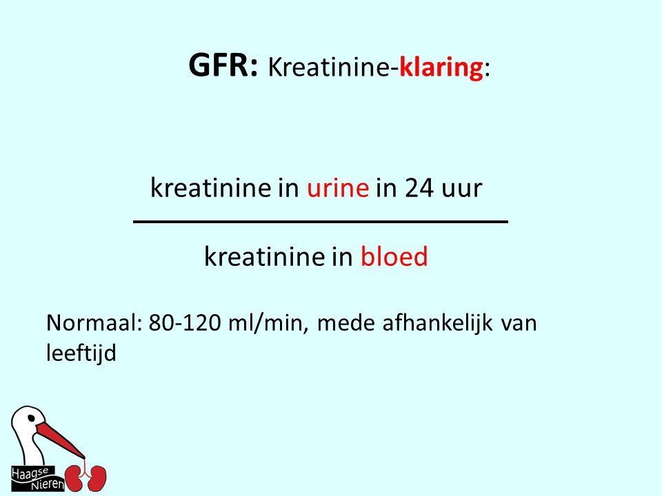 GFR: Kreatinine-klaring: