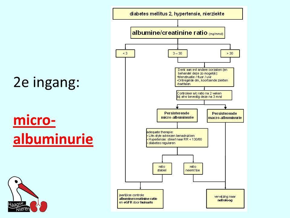 2e ingang: micro-albuminurie