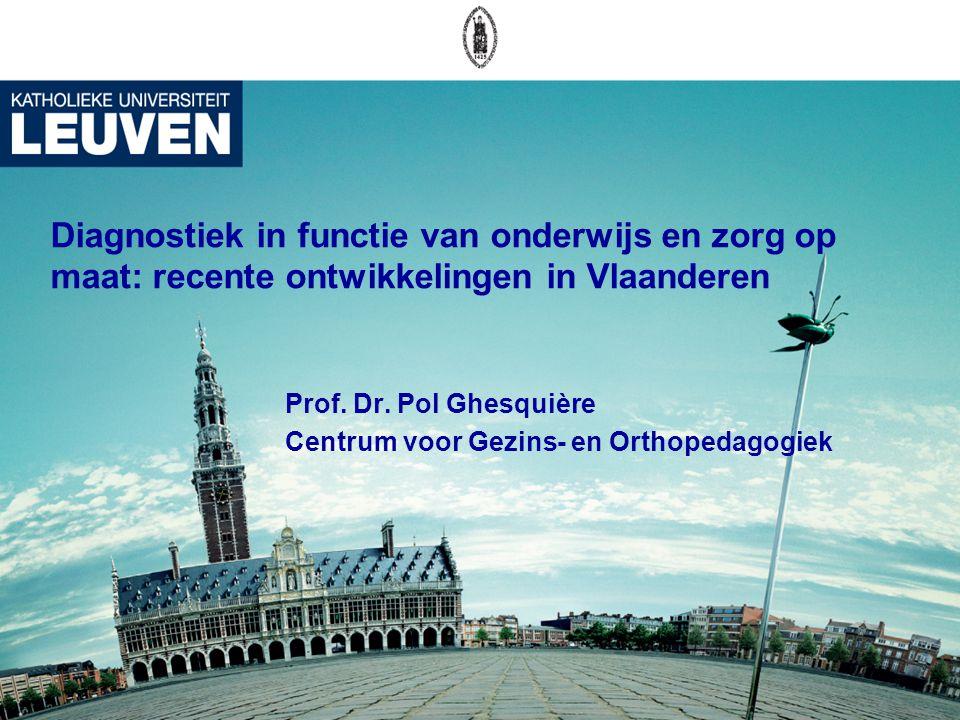 Prof. Dr. Pol Ghesquière Centrum voor Gezins- en Orthopedagogiek