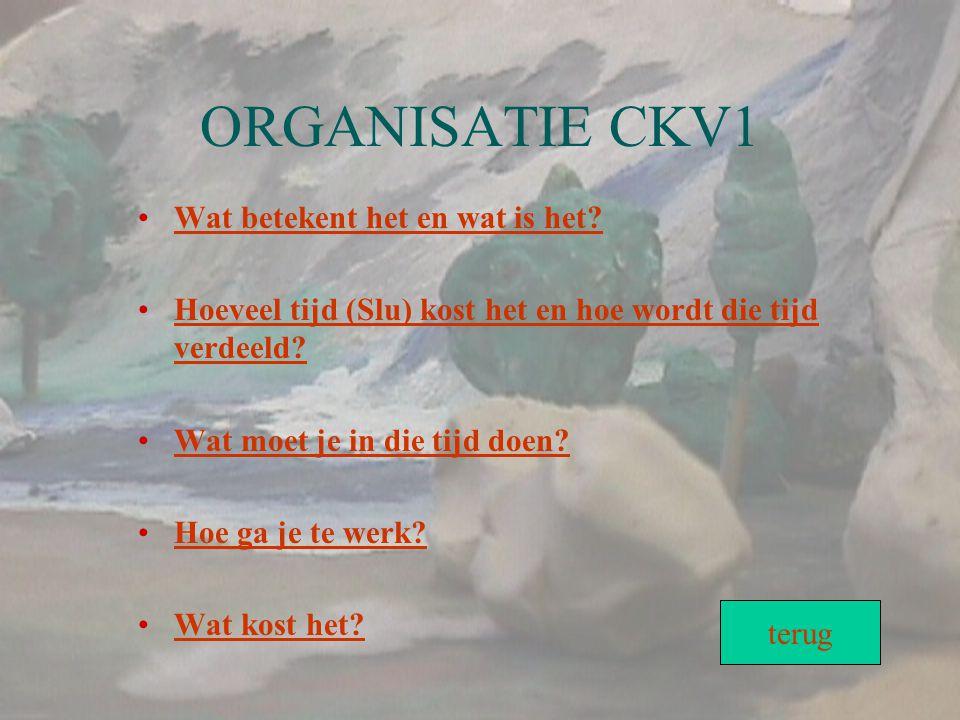 ORGANISATIE CKV1 Wat betekent het en wat is het
