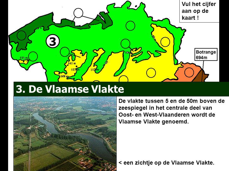 3 3. De Vlaamse Vlakte Vul het cijfer aan op de kaart !