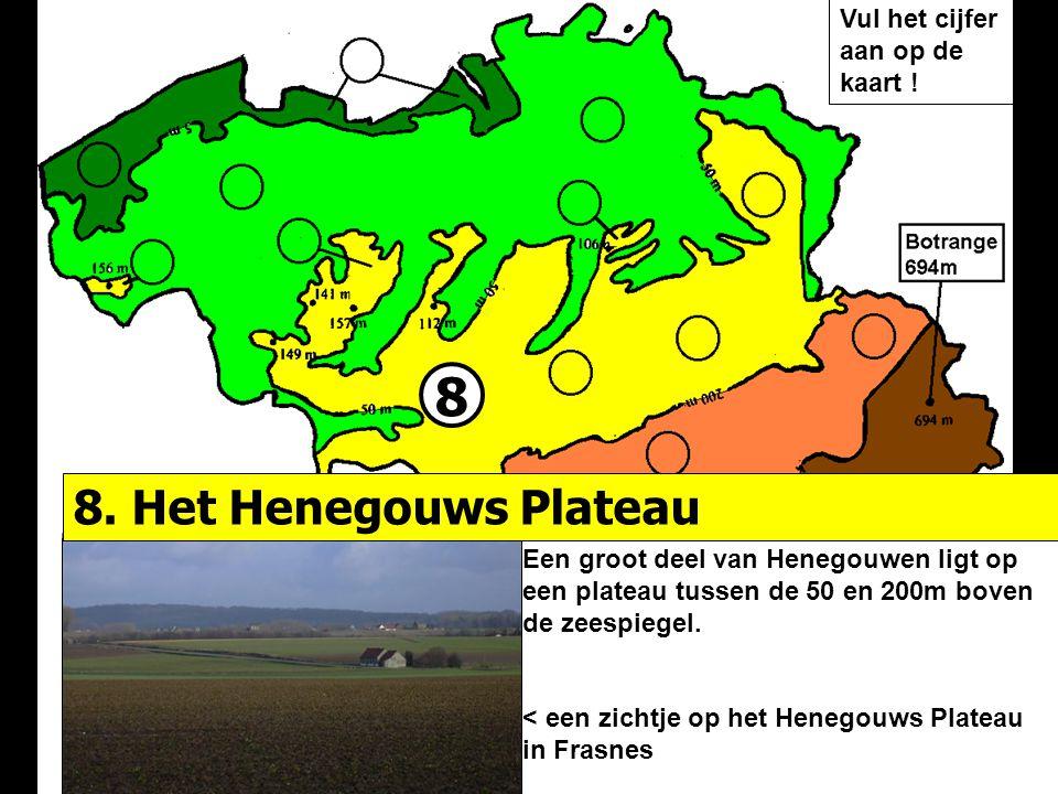 8 8. Het Henegouws Plateau Vul het cijfer aan op de kaart !