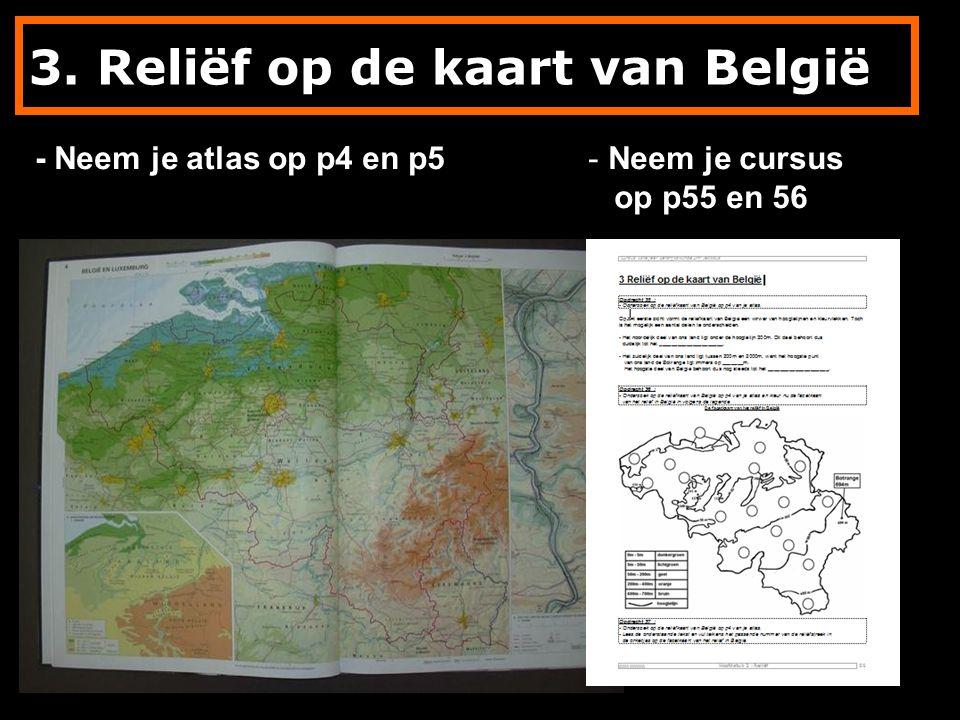3. Reliëf op de kaart van België