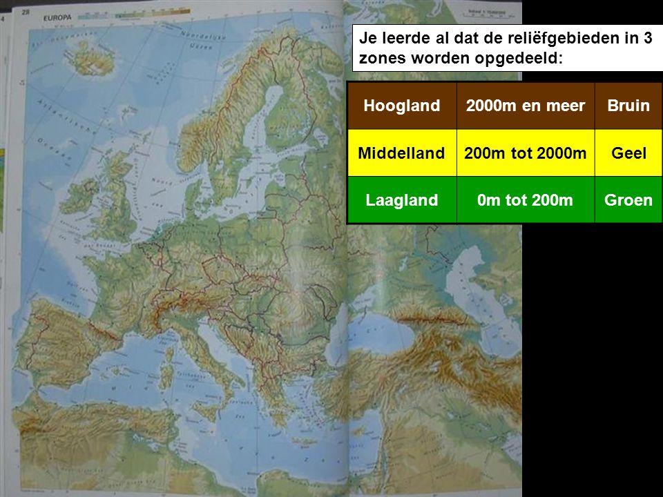 Je leerde al dat de reliëfgebieden in 3 zones worden opgedeeld: