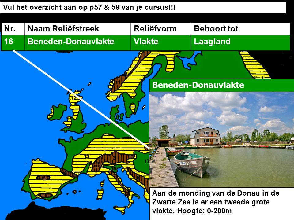 Nr. Naam Reliëfstreek Reliëfvorm Behoort tot 16 Beneden-Donauvlakte