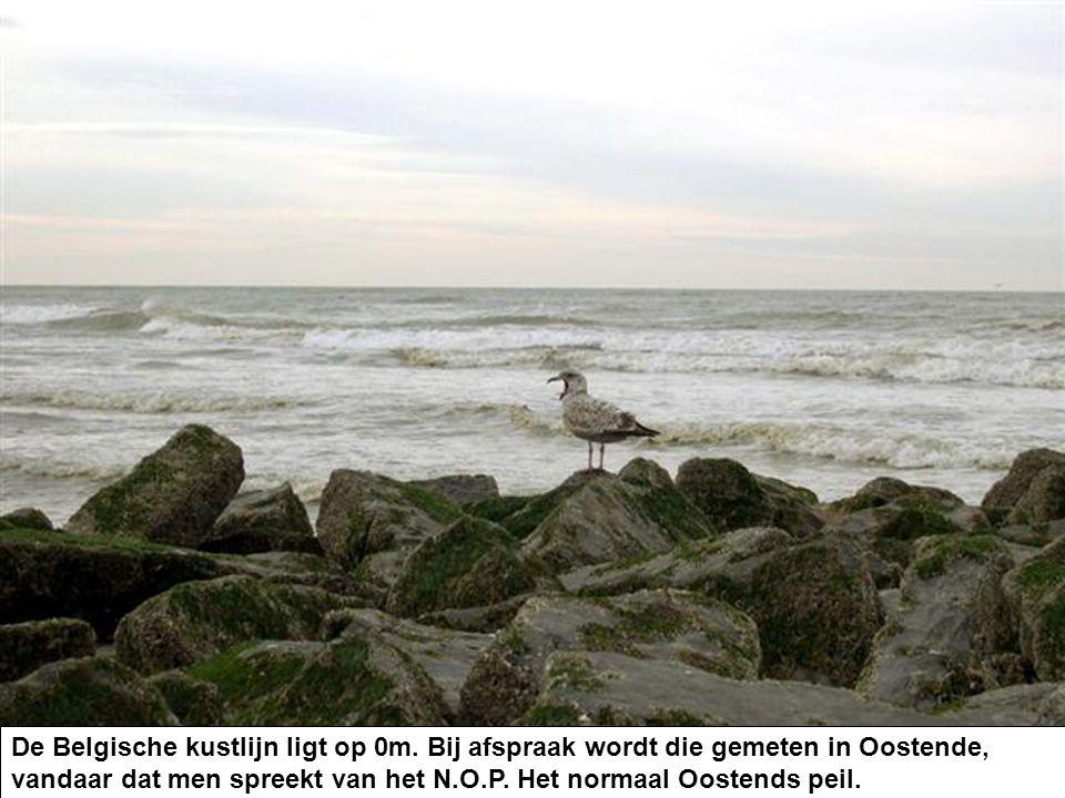 De Belgische kustlijn ligt op 0m