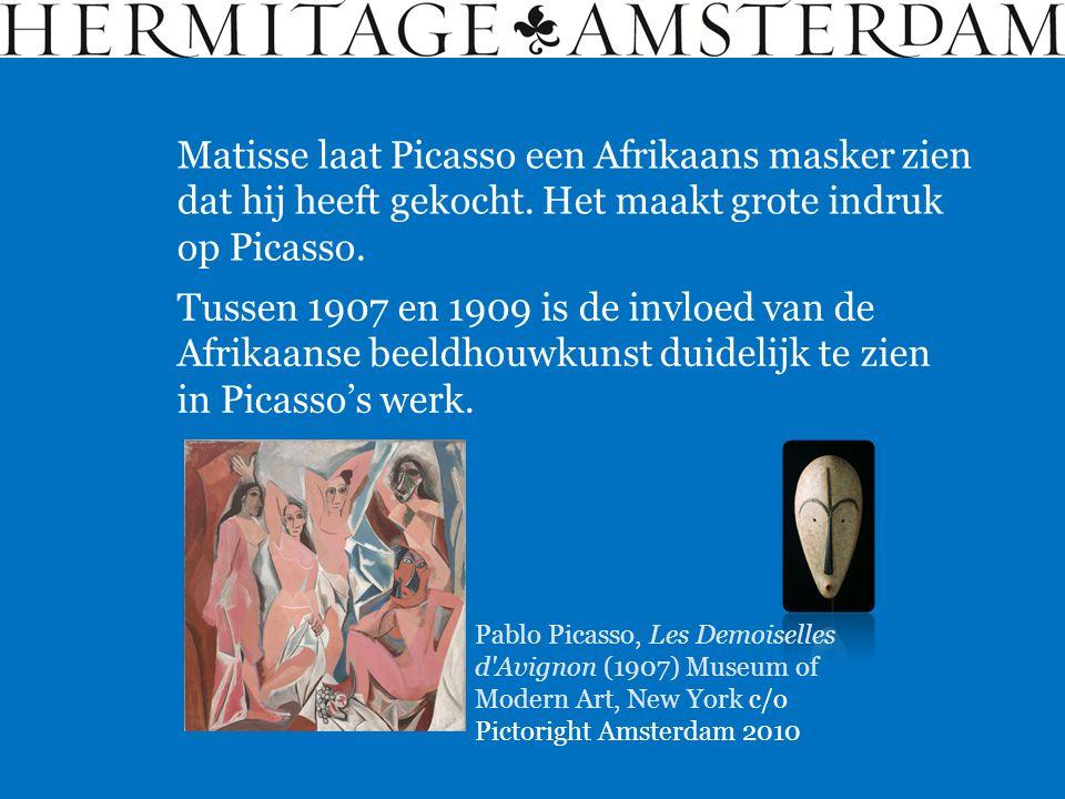 Matisse laat Picasso een Afrikaans masker zien dat hij heeft gekocht