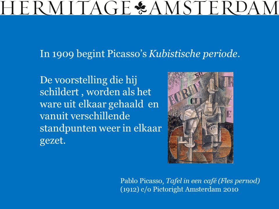 In 1909 begint Picasso's Kubistische periode.