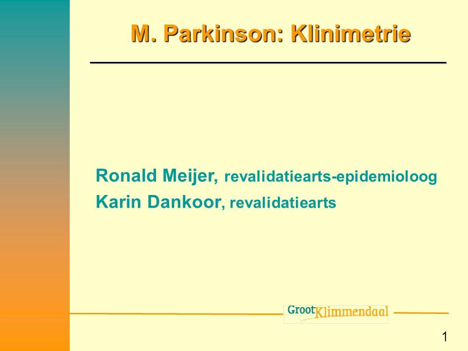 M. Parkinson: Klinimetrie