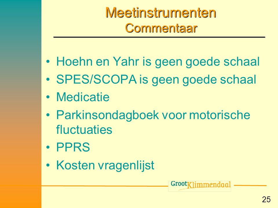 Meetinstrumenten Commentaar