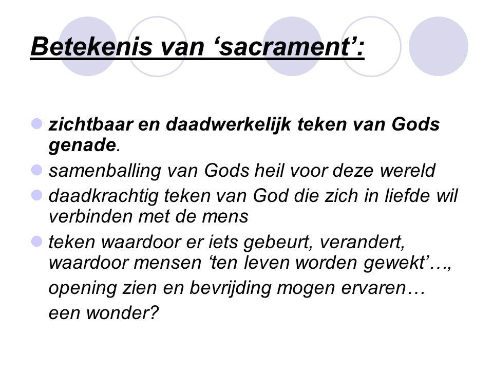 Betekenis van 'sacrament':