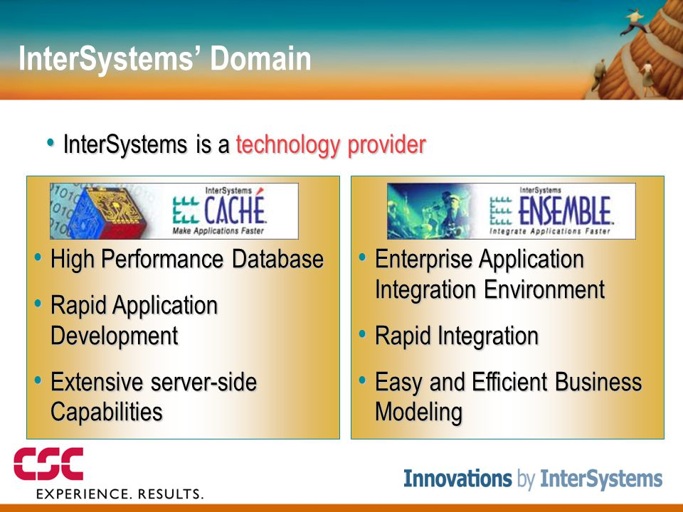 InterSystems' Domain InterSystems is a technology provider