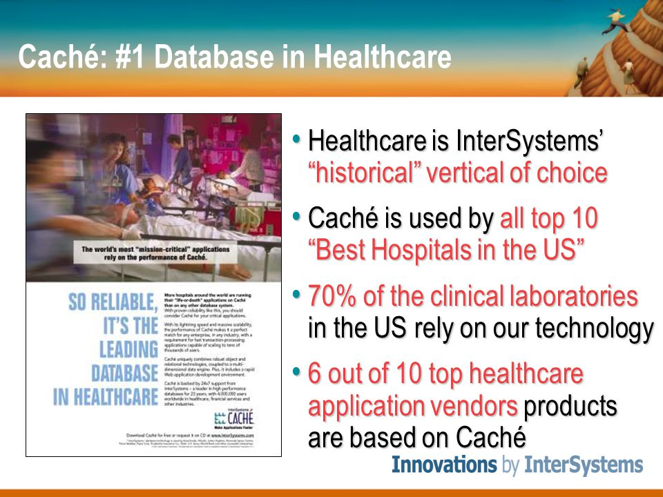 Caché: #1 Database in Healthcare