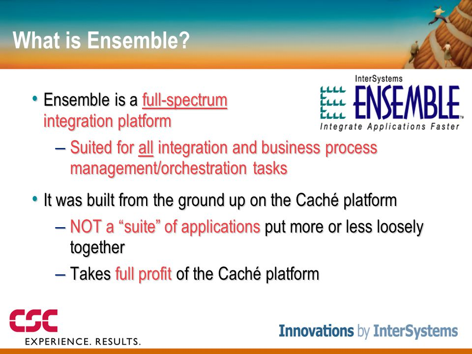 What is Ensemble Ensemble is a full-spectrum integration platform