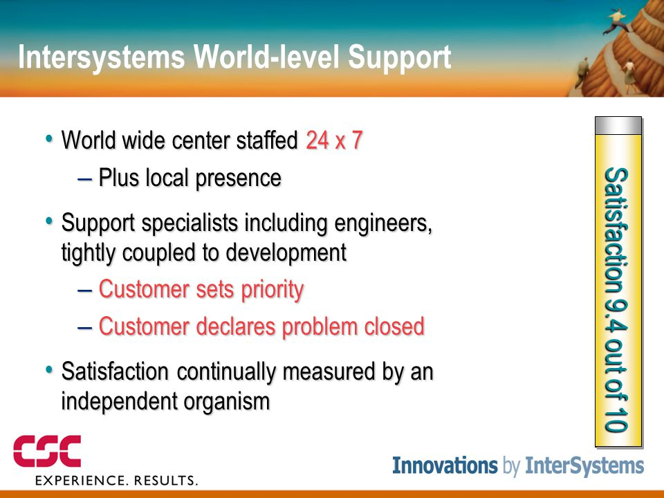 Intersystems World-level Support