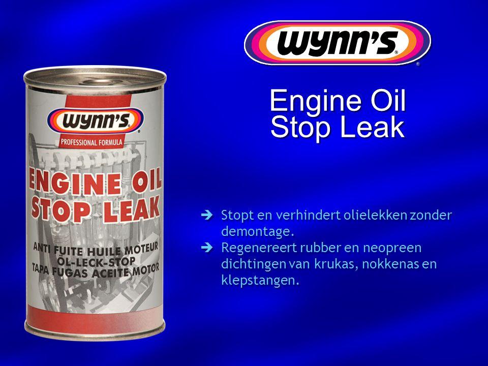 Engine Oil Stop Leak Stopt en verhindert olielekken zonder demontage.
