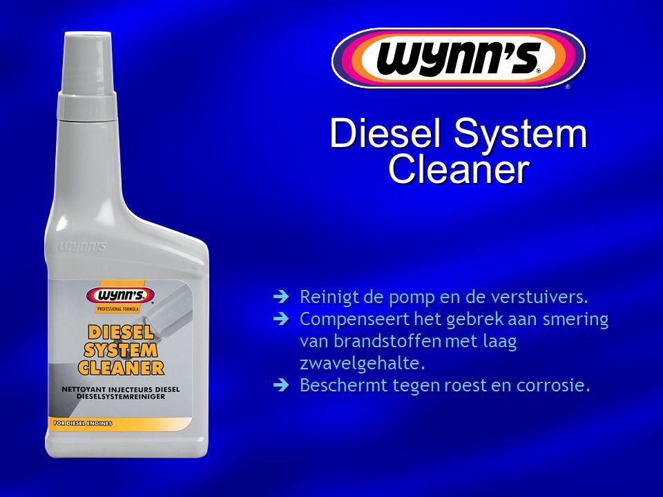 Diesel System Cleaner Reinigt de pomp en de verstuivers.