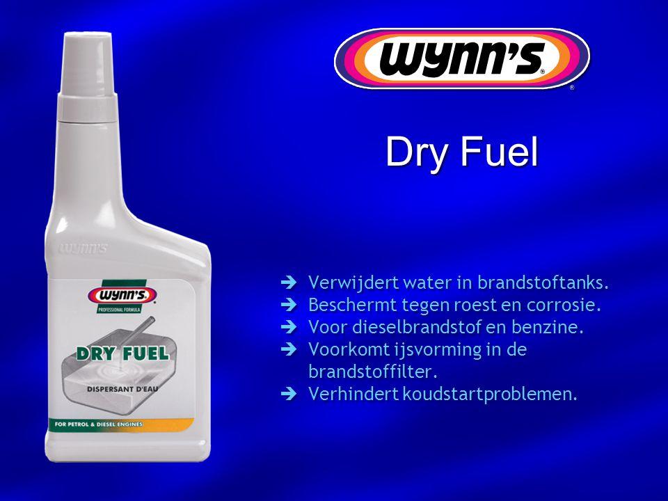 Dry Fuel Verwijdert water in brandstoftanks.