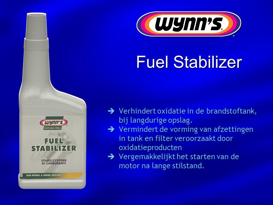 Fuel Stabilizer Verhindert oxidatie in de brandstoftank, bij langdurige opslag.