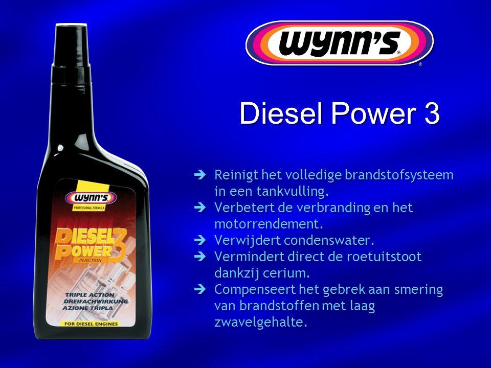 Diesel Power 3 Reinigt het volledige brandstofsysteem in een tankvulling. Verbetert de verbranding en het motorrendement.