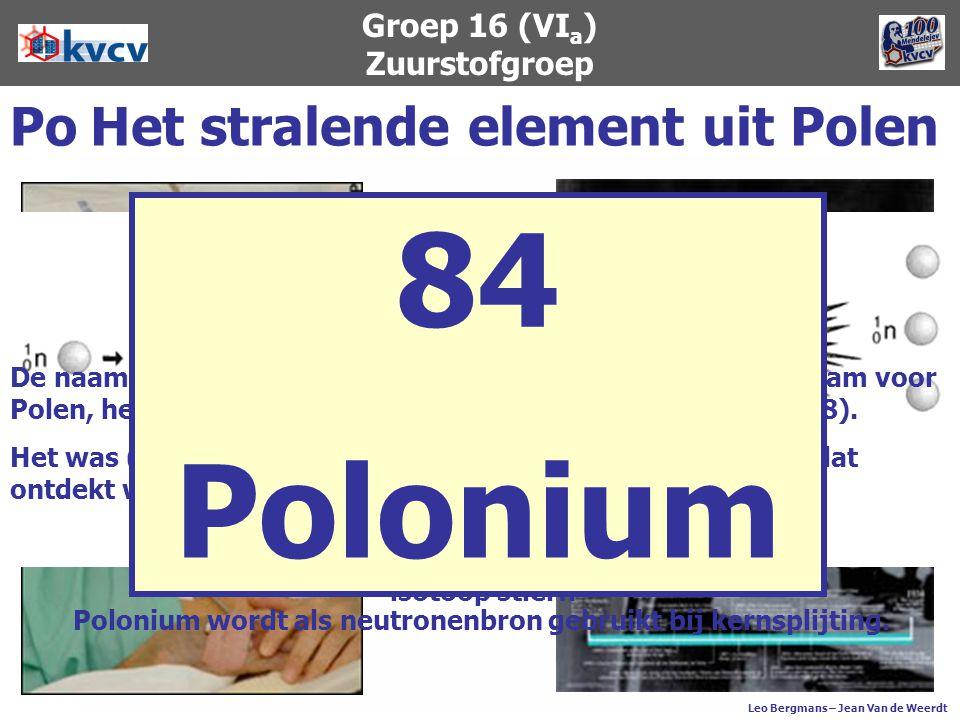 Groep 16 (VIa) Zuurstofgroep