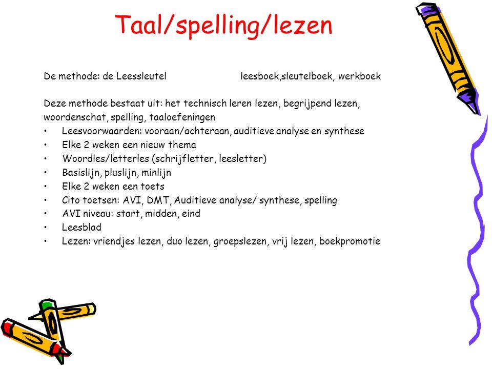 Taal/spelling/lezen De methode: de Leessleutel leesboek,sleutelboek, werkboek.
